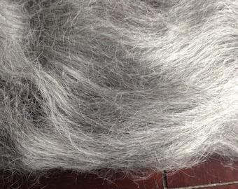 1oz Gray Gotland Wool Spinning Fiber Felting Fiber Limited Edition