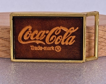 Coca Cola Vintage Belt Buckle Leather Brass El Cid