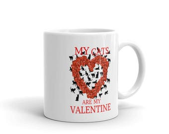 My Cats Are My Valentine Mug