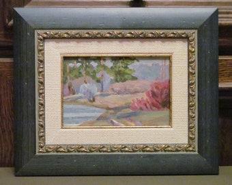1975 March. Plein air. Oil Painting. Original.