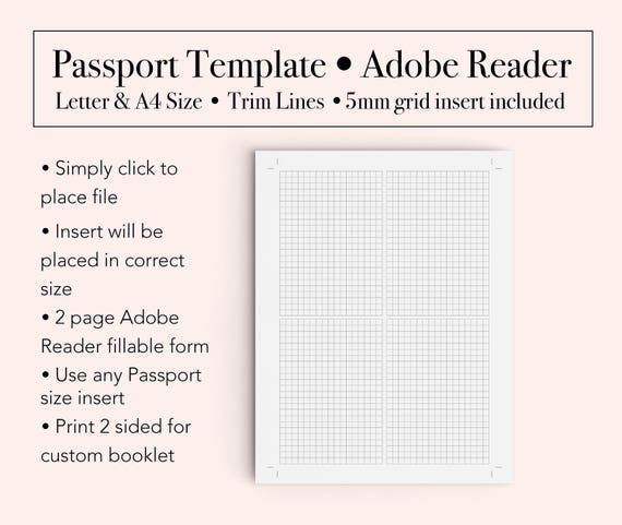 Passport Template Booklet Template Passport Printable