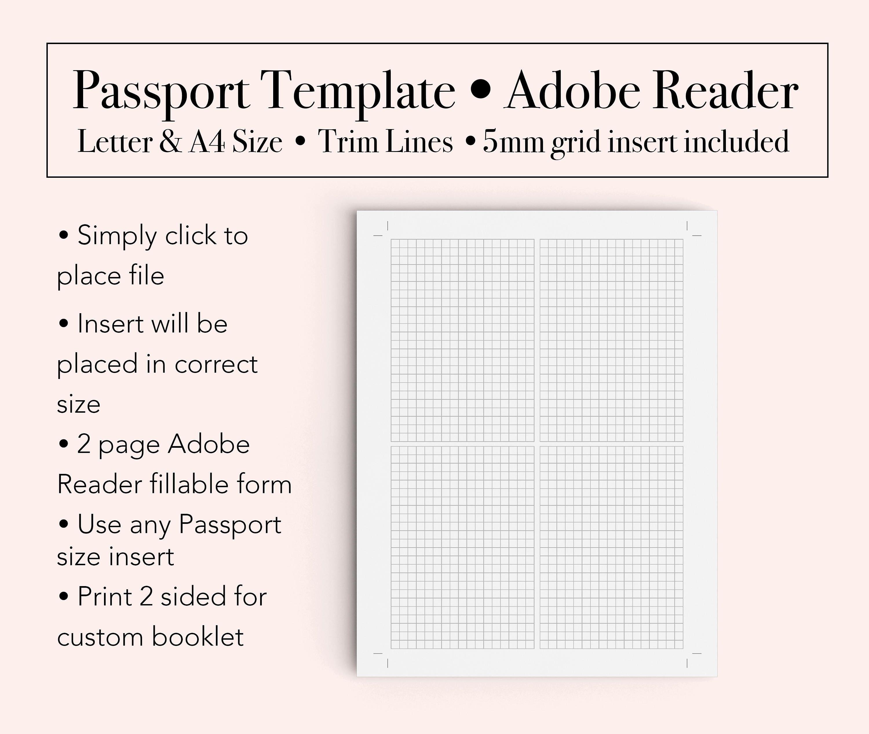 Passport Template Booklet Template Passport Printable