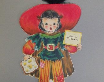 Tommy Tucker Doll Card Vintage Hallmark Land of Make Believe w/Envelope