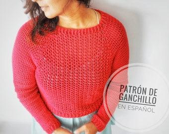Patrón de Ganchillo Jersey Sweetheart