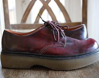 Star Polo Doc. Martens style Maroon shoe