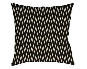 Linen cushion cover 40x40cm hand steep chevron