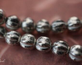 Antique Silver, Czech Beads, Beads, 44-3