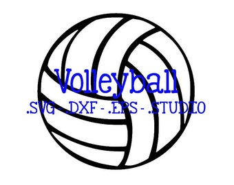 Volleyball Cut File - Volleyball Clip Art - Volleyball SVG - Volleyball DXF - Volleyball EPS - Volleyball Silhouette Studio File