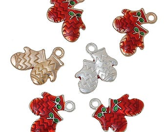 Zinc Metal Alloy Christmas Charms Christmas - Holiday Charms - Jewelry Merry Craft