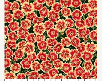 20% off thru 7/10 ABUNDANT GARDEN by Northcott fabrics-by the yard  Texas Wildflowers Indian Blanket-21848-24