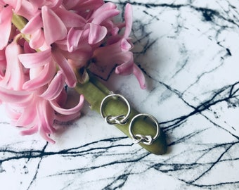 Infinity Knot Ear Studs in Silver or Gold plated