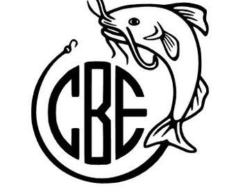 Fishing Decal / Bass Sticker / Yeti Custom Decal / Catfish Sticker / Custom Decal / Custom Sticker / Custom Yeti Cup / Yeti Decal / Monogram