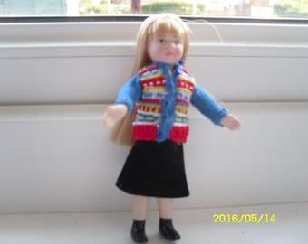 1:12 Fair-Isle girl's cardigan