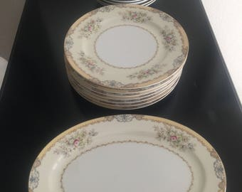 Meito china (Japan) dinner set. Authentic & hand painted.  *free shipping