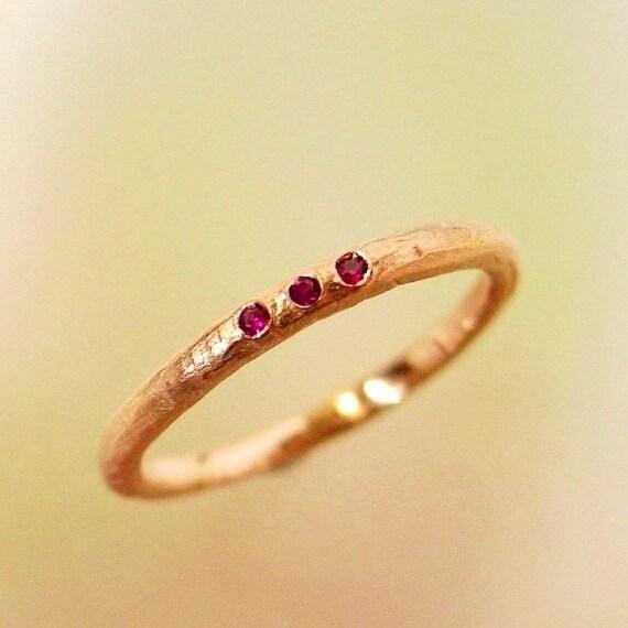 Rose gold ruby wedding band stacking ring wedding ring junglespirit Image collections