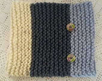 Snood handknitted in pure new wool from Iceland