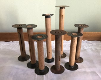 Antique vintage Eastman Kodak Co. Wooden film spools Set of 8