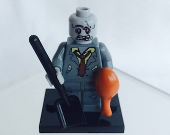 Lego Style Zombie Minifigure. Ideal Gift