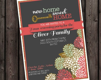customized wording, any occasion invitation, new home, house warming invitation, new home party, open house invitation,