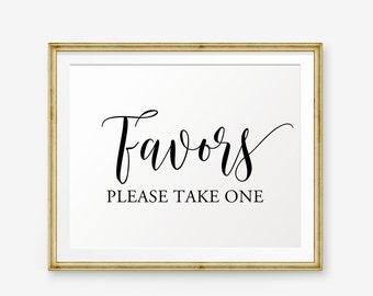 Wedding Favors Sign Printable, Please Take One, Wedding Sign, Wedding welcome sign, Wedding Sign, Wedding Decor, wedding reception sign