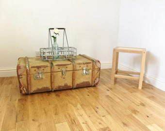 Canvas Steamer Trunk