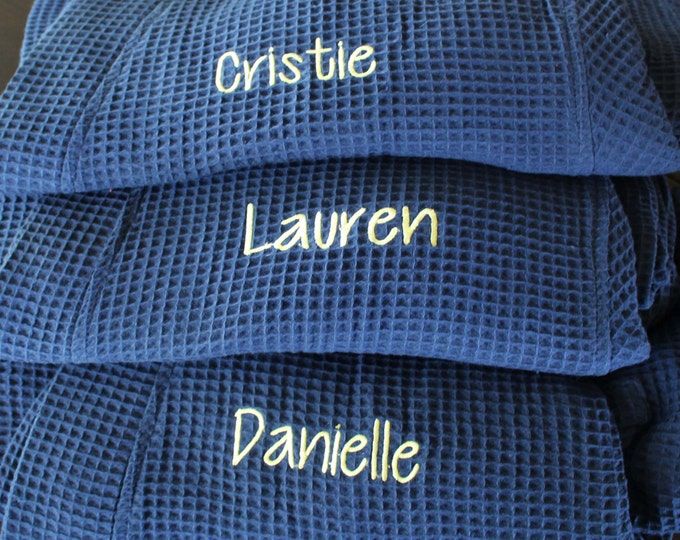 Personalized Bridesmaid Robe Set of 4 ,Monogrammed Robe, Waffle Robe, Personalized Bridesmaid Gifts