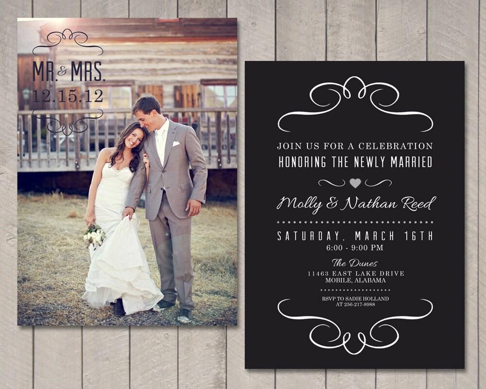Post Wedding Invitations Reception: Modern Wedding Reception Invitation Printable By Vintage
