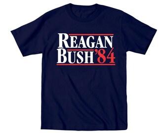 Regan Bush 84 Baby Election Retro Republican Kids Outfit Toddler T-Shirt DT0756