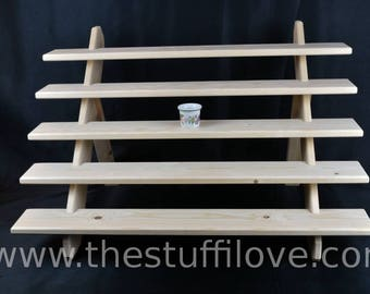 5 Tier Wide Portable Riser Craft fair Display Shelving Stand