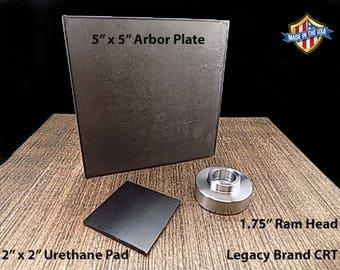 6 Ton Hydraulic Press Accessory Set (Ram Head, Arbor Plate, Urethane Pad)