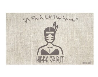 """Psychedelic Art Tapestries """"A Pinch Of Psychedelic"""" Spirit Girl - Grey"""