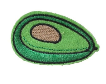 Avocado Fruit Green Fresh Embroidered Bulk Iron On Patch Applique AF4118  6cm x 4cm