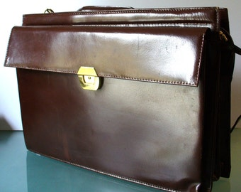 Top Grain Leather Accordian Style Breifcase