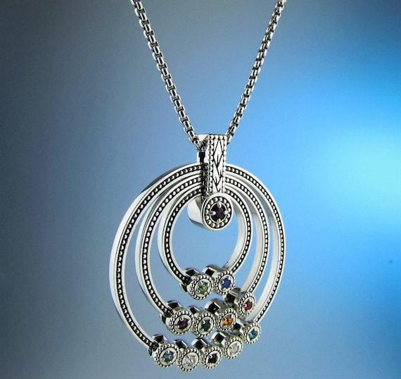 great grandmother birthstone necklace children birthstone. Black Bedroom Furniture Sets. Home Design Ideas
