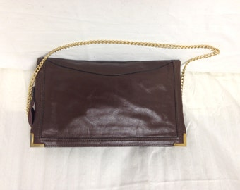Brown Leather Purse, bag,Shoulder Bag, brown leather