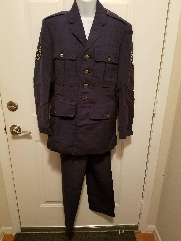 Vietnam Era Us Air Force Dress Blue Uniform Shade 1549 Class 2