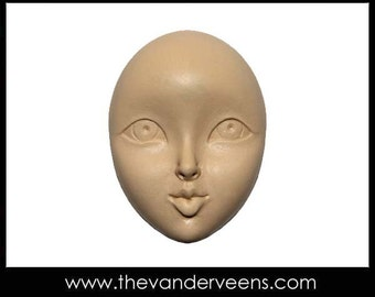 Mold No.145 (Face-Thin eyelids with opened eyes) by Veronica Jeong