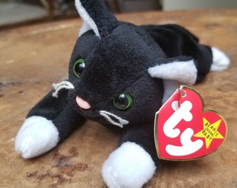 ZIP CAT, rare BeanieBaby