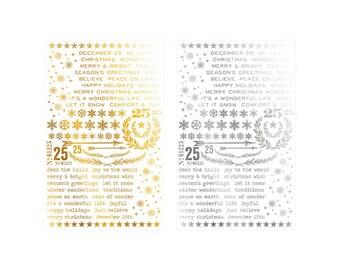 Advantus - Tim Holtz - Ideaology - Remnant Rubs - Rub ons - Gilded Christmastime