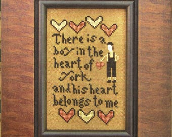1/2 His Heart Belongs to Me by Carriage House Samplings Counted Cross Stitch Pattern/Chart
