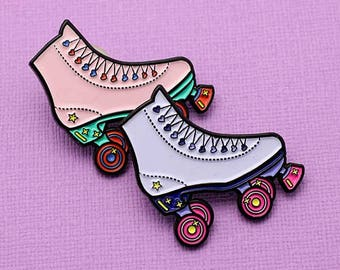 SECONDS SALE 90's Roller Skate Soft Enamel Pin // Rad Collection, 90's Vibes
