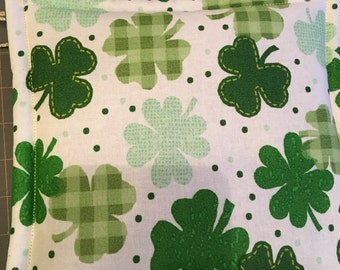 St Patrick's Day Print Potholders set of 2