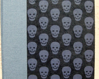 Medium Unlined Handbound Hardcover Journal Skulls