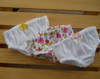 18 inch Doll Clothes, Fits American Girl, Doll Underwear, Doll Panties - 3 Pack