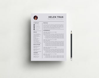 Great Resume Template With Photo | CV Template + Cover Letter For MS Word |  Creative And Design Inspirations