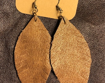 Double Layered Leather Earrings