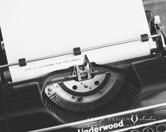 Romantic Gifts for Him, Poetry Print, Wedding Gift for Groom, Anniversary Gift for Husband, Love Poem Wall Decor, Typewriter Print, BW Art