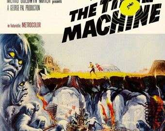 HG Wells The Time Machine Sci-Fi  Movie Film - Vintage Reproduction Wall Art Home Decor Poster Print No.2, A3 A4