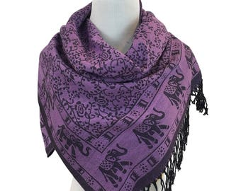 Pashmina Scarf Purple Scarf Pashmina Shawl Gift For Her Fashion Accessories Mothers Day Pashmina Scarves Women Scarf
