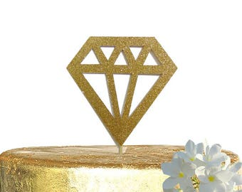 Diamond Cake Topper, Bridal Shower, Engagement Party Decorations, Wedding Decor